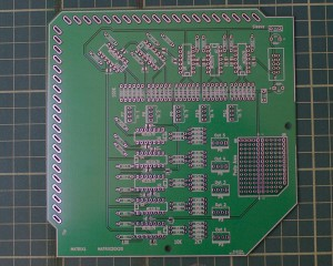 Front of the matrix buffer PCB